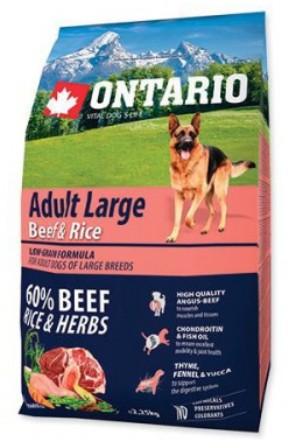Ontario (Онтарио) - Для собак крупных пород с говядиной и рисом 12 кг