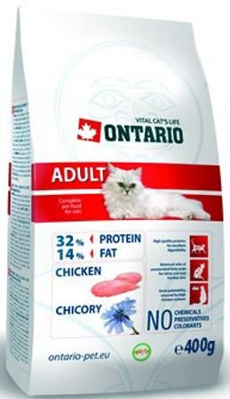 Ontario (Онтарио) - Для взрослых кошек с курицей 0,4 кг
