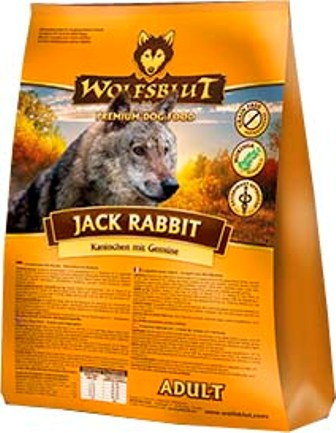 Wolfsblut Jack Rabbit (Вулфсблат Джек Реббит) - Корм для взрослых собак всех пород Волчья кровь Кролик (кролик и сладкий картофель) 15 кг
