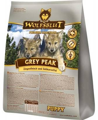 Wolfsblut Grey Peak Puppy (Вулфсблат Грей Пик Паппи) - Корм для щенков всех пород Волчья кровь Седая вершина (коза и сладкий картофель) 2 кг