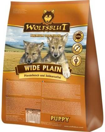 Wolfsblut Wide Plain Puppy (Вулфсблат Вайд Плэйн Паппи) - Корм для щенков всех пород Волчья кровь Широкая равнина (конина и сладкий картофель) 2 кг