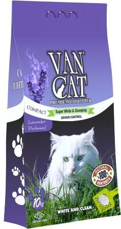 VanCat (ВанКэт) - Комкующийся наполнитель бентонитовый, с ароматом лаванды, без пыли 5 кг