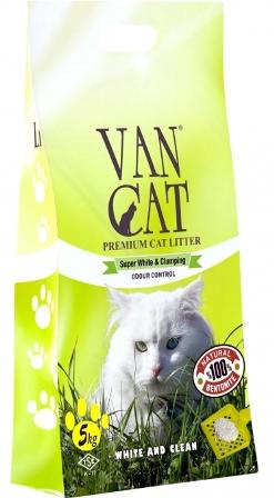 VanCat (ВанКэт) - Комкующийся наполнитель бентонитовый для крупных кошек, без пыли 15 кг