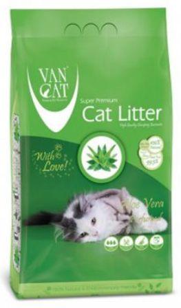 VanCat (ВанКэт) - Комкующийся наполнитель бентонитовый, с ароматом алое вера, без пыли 10 кг