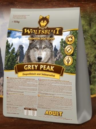 Wolfsblut Grey Peak Adult (Вулфсблат Грей Пик Эдалт) - Корм для взрослых собак всех пород Волчья кровь Седая вершина (коза и сладкий картофель) 7,5 кг