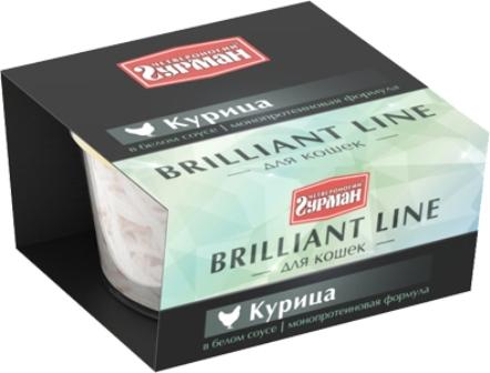 Четвероногий Гурман Бриллиантовая линия - Консервы для кошек курица в белом соусе 100 гр