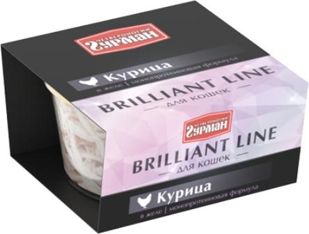 Четвероногий Гурман Бриллиантовая линия - Консервы для кошек курица в желе 100 гр