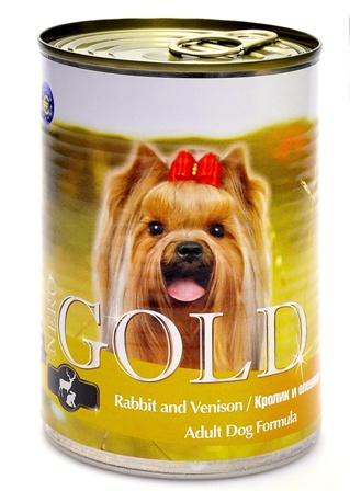 Nero Gold Super Premium (Неро Голд Супер Премиум) - Консервы для собак Кролик и оленина 0,41 кг