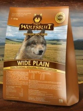 Wolfsblut Wide Plain (Вулфсблат Вайд Плэйн) - Корм для взрослых собак всех пород Волчья кровь Широкая равнина (конина и сладкий картофель) 15 кг