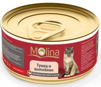 Molina (Молина) - Консервы для кошек тунец и цыпленок 80 гр
