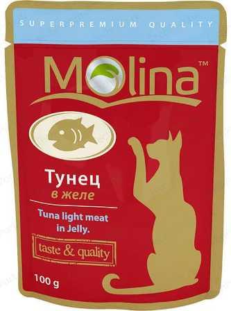 Молина (Молина) - Пауч для кошек Тунец в желе 100 г