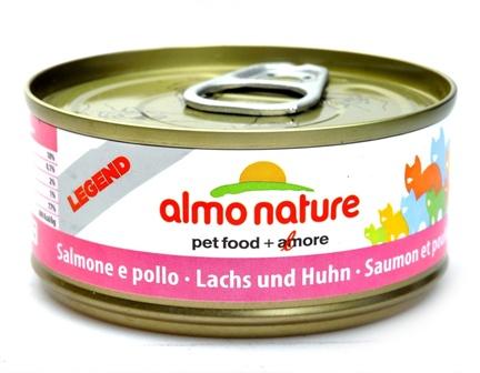 Almo Nature Legend Adult Cat Salmon&Chicken (Алмо Натюр Легенд Эдалт Кэт Салмон энд Чикен) - Консервы для взрослых кошек с лососем и курицей 70 гр