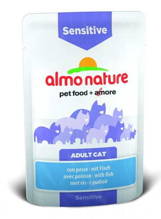 Almo Nature Functional - Паучи для чувствительного кишечника с рыбой 70 гр