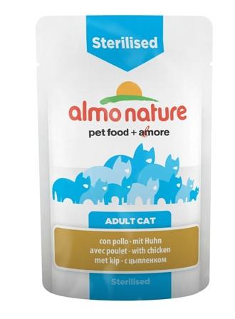 Almo Nature Functional - Паучи с курицей для кастрированных кошек 70 гр