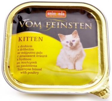 Animonda Vom Feinsten Kitten - Консервы для котят с домашней птицей 100 гр
