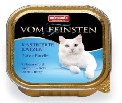 Animonda Vom Feinsten Castrated cat - Консервы для кастрированных кошек с индейкой и форелью 100 гр
