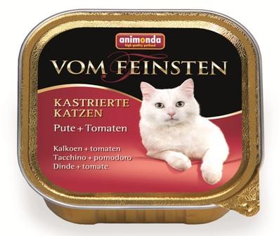 Animonda Vom Feinsten Castrated cat - Консервы для кастрированных кошек с индейкой и томатами 100 гр