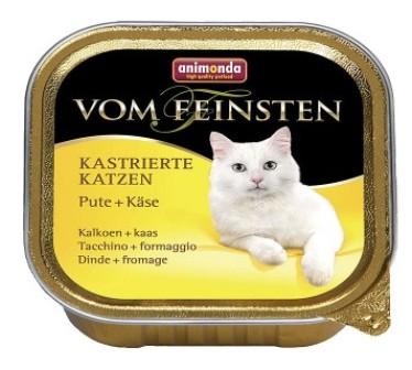 Animonda Vom Feinsten Castrated cat - Консервы для кастрированных кошек с индейкой и сыром 100 гр