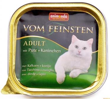 Animonda Vom Feinsten Classic - Консервы для кошек с индейкой и кроликом 100 гр