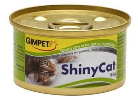 Gimpet (Джимпет) - Консервы для кошек тунец с травкой в желе 70 гр