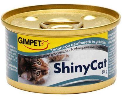 Gimpet (Джимпет) - Консервы для кошек тунец и креветки в желе 70 гр