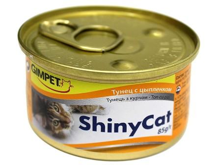 Gimpet (Джимпет) - Консервы для кошек тунец и цыпленок в желе 70 гр