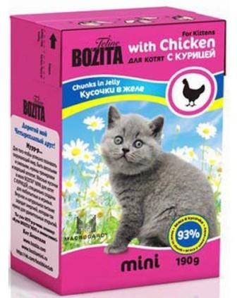 Bozita Super Premium Mini (Бозита Супер Премиум Мини) - Кусочки в желе для котят - курица 190 гр