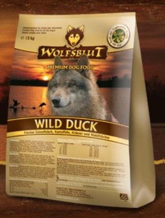 Wolfsblut Wild Duсk (Вулфсблат Вайлд Дак) - Корм для взрослых собак всех пород Волчья кровь Дикая утка (сладкий картофель и утка) 2 кг