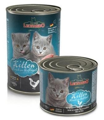 Leonardo (Леонардо) - Консервы для котят Отборное мясо с птицей 200 гр