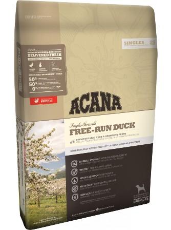 Acana Free-Run Duck (Акана Фри Ран Дак) - Корм для собак всех пород и возрастов гиппоаллергенный (беззерновая утка с грушей) 2 кг