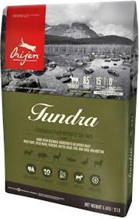 Orijen Cat Tundra (Ориджен Кэт Тундра) - Корм для кошек Тундра (мясо козы, дикого кабана, оленя, арктического гольца, утки и овец) 5,4 кг