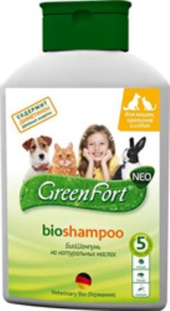 Green Fort Bio (Грин Форт Био) - Шампунь от блох и других эктопаразитов для собак, кошек и кроликов 380 мл