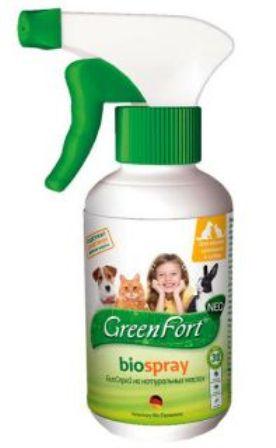 Green Fort Bio (Грин Форт Био) - Спрей от блох и других эктопаразитов для собак, кошек и кроликов 200 мл
