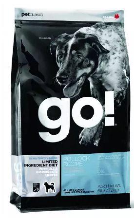 Go!Natural! Sensitivity Pollock Dog Recipe 24/12 (Гоу!Нэтурал! Сенситив Поллок Дог Ресайп 24/12 ) - Корм для собак всех пород и возрастов (с треской беззерновой, без картофеля) 11,35 кг