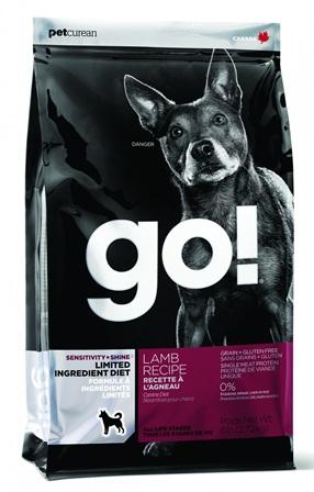 Go!Natural! Sensitivity Lamb Dog Recipe 24/12 (Гоу!Нэтурал! Сенситив Лэмб Дог Ресайп 24/12) - Корм для собак всех пород и возрастов (с ягненком беззерновой, без картофеля) 0,1 кг