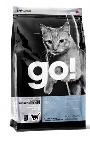 Go!Natural! Grain Free Pollock Cat Recipe 31/15 (Гоу!Нэтурал! Грейн Фри Поллок Кэт Ресайп 31/15) - Корм для кошек всех пород и возрастов (БЕЗЗЕРНОВОЙ, треска) 3,63 кг