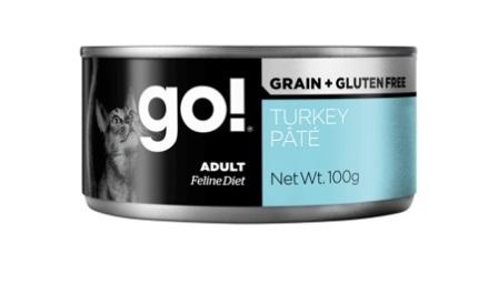 Go!Natural! (Гоу!Нэтурал!) - Консервы беззерновые с индейкой для кошек 100 гр