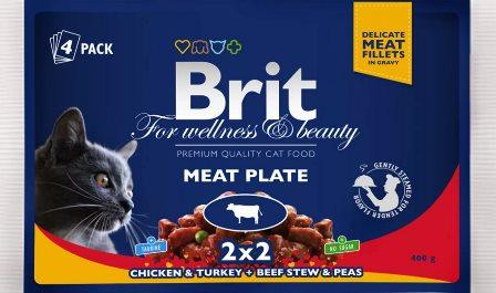 Brit Premium набор паучей д/кош Мясная тарелка 4*100гр