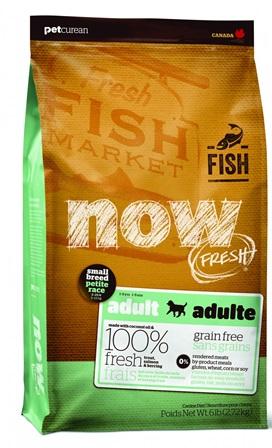 Now!Fresh! Grain Free Small Breed Fish Recipe 27/17 (Нау!Фреш! Грейн Фри Смол Брид Фиш Ресайп 27/17) - Корм для собак мелких пород всех возрастов (БЕЗЗЕРНОВОЙ, лосось, форель и овощи) 0,1 кг