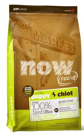 Now!Fresh! Grain Free Puppy Small Breed Dog Recipe 28/18 (Нау!Фреш! Грейн Фри Смол Брид Дог Ресайп 27/17) - Корм для щенков мелких пород (БЕЗЗЕРНОВОЙ, индейка, утка и овощи) 2,72 кг