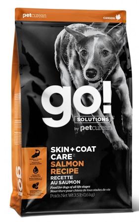 Go!Natural! Skin&Coat Salmon DR (Гоу!Нэтурал! Скин&Коат Салмон ДР) 22/12 - Корм для собак всех пород и возрастов (с лососем и овсянкой) 1,59 кг