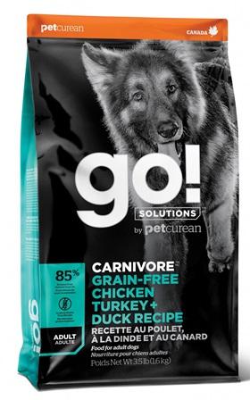 Go!Natural! CARNIVORE Grain Free DR (Гоу!Нэтурал! КАРНИВОР Грейн Фри ДР) 34/16 - Корм для собак всех пород (БЕЗЗЕРНОВОЙ, индейка, курица, лосось, утка) 0,1 кг
