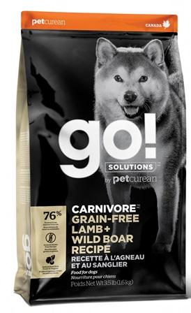 Go!Natural! CARNIVORE Lamb+Boar DR (Гоу!Нэтурал! КАРНИВОР Лэмб+Боар ДР) 32/16 - Корм для собак всех пород (БЕЗЗЕРНОВОЙ, ягненок и кабан) 1,59 кг