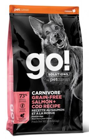Go!Natural! CARNIVORE Salmon+Cod DR (Гоу!Нэтурал! КАРНИВОР Салмон+Код ДР) 34/16 - Корм для собак всех пород (БЕЗЗЕРНОВОЙ, лосось и треска) 1,59 кг