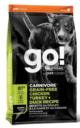 Go!Natural! CARNIVORE Grain Free Puppy (Гоу!Нэтурал! КАРНИВОР Грейн Фри Паппи) 36/18 - Корм для щенков всех пород (БЕЗЗЕРНОВОЙ, индейка, курица, лосось, утка) 9,98 кг