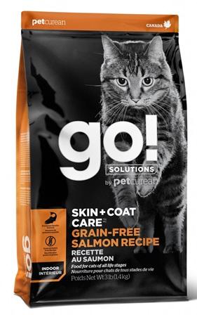 Go!Natural! Skin&Coat GF Salmon Cat (Гоу!Нэтурал! Скин&Коат ГФ Салмон Кэт) 30/14 - Корм для кошек всех пород и возрастов (БЕЗЗЕРНОВОЙ, с лососем) 3,63 кг