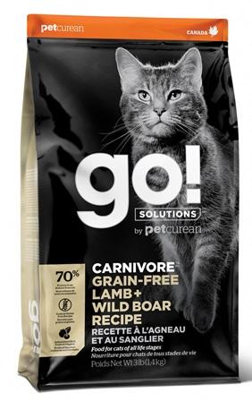 Go!Natural! CARNIVORE Lamb+Boar Cat Recipe (Гоу!Нэтурал! КАРНИВОР Лэмб+Боар Кэт Ресайп) 42/16 - Корм для кошек всех пород и возрастов (БЕЗЗЕРНОВОЙ, ягненок и кабан) 0,1 кг