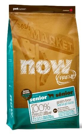 Now!Fresh! Grain Free Senior Large Dog Recipe 25/11 (Нау!Фреш! Грейн Фри Сеньор Лардж Дог Ресайп 25/11) - Корм для пожилых собак крупных пород (БЕЗЗЕРНОВОЙ, индейка, утка и овощи) 11,35 кг