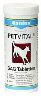 Canina Petvital GAG (Канина Петвитал ГАГ) - Витаминная добавка для укрепления суставов и костей для животных 90 таб.