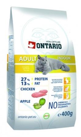Ontario (Онтарио) - Для домашних кошек с курицей 0,4 кг